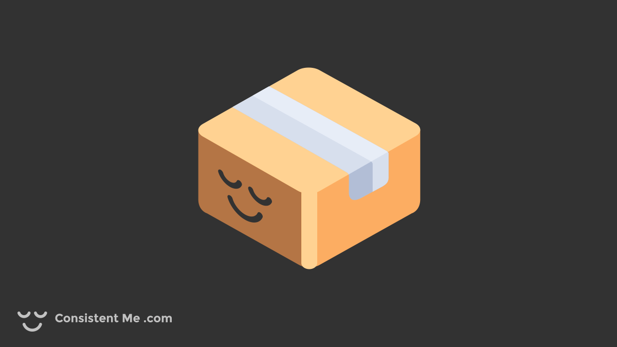 Illustration of a parcel representing a product