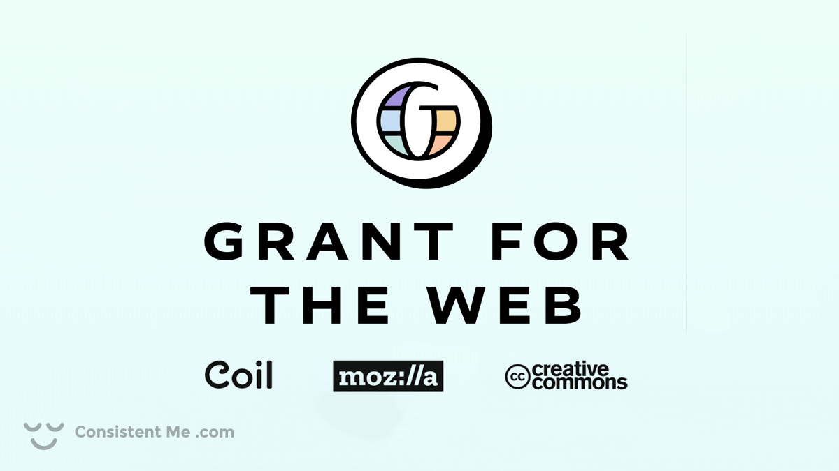Logo of the Grant for the Web, Coil, Mozilla, and the Creative Commons Foundation